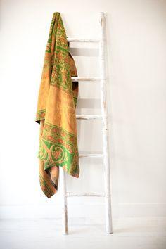FLOURISHING LOTUS Kantha Quilt, Quilts, Ladder Decor, Lotus, Vintage, Home Decor, Lotus Flower, Decoration Home, Room Decor