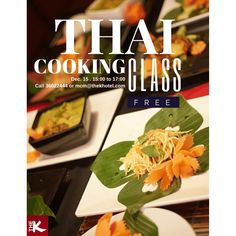 #Thekhotel's Free Cooking Class caters people with keen interest in food & culture. Learn to cook famous Thai Dishes in a relaxed & friendly environment.  Free Cook-in is conducted by our Gulf Hotel Groups certified chefs, making for a highly personalized & rewarding experience. –  #Eventsthek