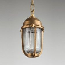 Boatyard Brass Pendant - Two Sizes Available