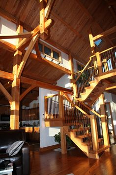 Our timberframe home in NC. Cypress....