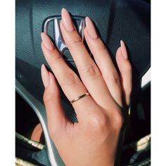 Nude nails ❤ liked on Polyvore featuring beauty products and nail care