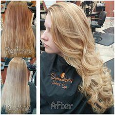 Blonde hair highlights #beautybyjessicariley