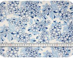Floral retro vintage fabric