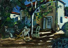 Coin de jardin. - CHABAUD, Auguste (1882-1955), Galerie A. Pentcheff - Expertise Achat Vente de Tableaux Marseille