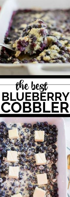 The Best Blueberry Cobbler #Febreze #ad