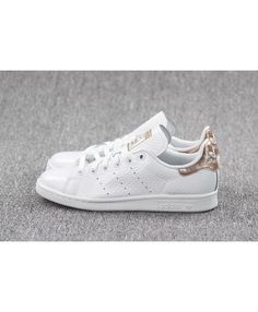 newest d45ed ebc79 Adidas Stan Smith Rose Gold Argent Blanc