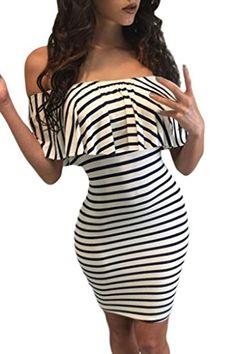 58c187e34c8db0 Women s Club Dresses - Chase Secret Womens Off Shoulder Ruffle Bodycon Mini  Club Dress  gt