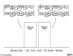 Used to do this in the old Jessup practice rooms. Good times.  don't shoot the pianist » Blog Archive » Discord