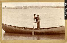 Louis Mitchell, Passamaquoddy, in a Canoe at Saint John, New Brunswick - 1898