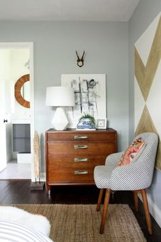 chair - dresser - a bit busy but has some nice elements