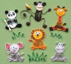 Quilling Art- cute animals