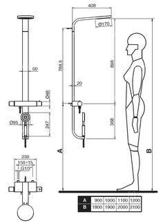Afficher l'image d'origine Bathroom Layout, Modern Bathroom, Design Bathroom, Bathroom Dimensions, Living Place, Norman, House Elevation, Technical Drawing, Autocad
