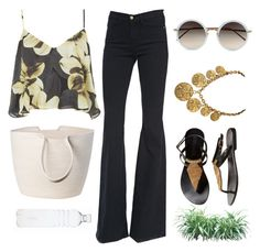 """the day after"" by redapplecigarettes ❤ liked on Polyvore featuring Frame Denim, Topshop, Doug Johnston, Linda Farrow and Chanel"