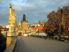 Prague's Charles Bridge in autumn
