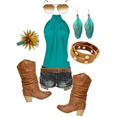"This outfit is, again, what some people call ""Country Chic"". Which, by the way, is soo true!"