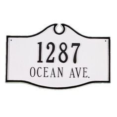 Montague Metal Products Colonial 2-Line Wall Address Plaque Finish: White / Gold, Mounting: Wall