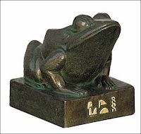 ANCIENT EGYPT ~ Heket, a frog - revered as a goddess of childbirth.