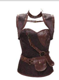 1172c207191ea HITSAN INCORPORATION WK27 Latex Gothic Clothing Brown 13 Steel Bone Corset  Steampunk Women Plus Size Waist
