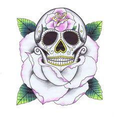 sugar skulls | Life is Rosy - Sugar Skull Tattoo Design