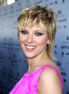 Scarlett Johansson mullet