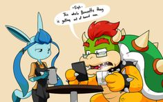 My take on the whole bowsette thing and what bowser MIGHT think of this entire thing. Pretty sure a large dragon koopa villain who has had years to crea. What Bowser thinks Mario And Luigi Games, Mario Bros., Nintendo Characters, Cute Characters, Video Games Funny, Funny Games, Sonic Nintendo, Game Character, Character Design