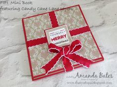 The Craft Spa - Stampin' Up! UK independent demonstrator : Candy Cane Lane Fold It Flip It Book