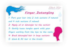 How To Finger Detangle Hair Natural Or Relaxed http://www.blackhairinformation.com/newsletters/bhi-postcard-tips-finger-detangling-your-hair/