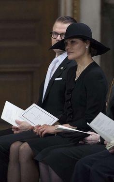 3/16/2013: Prince Daniel & Crown Princess Victoria attend the funeral of Princess Lilian (Stockholm)