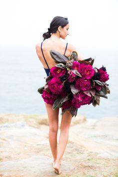 Girl Holding Flower Series /