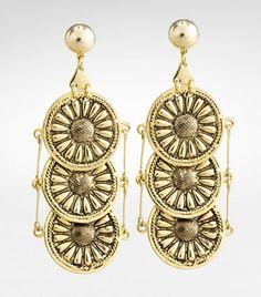 Tory Burch Foundation Coin Earring: $125 #Earrings #Tory_Burch