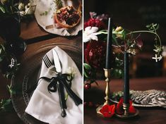 Dutch still life inspiration - love this photo shoot! Has dark garden theme, natural table top, metallics, fruit as decor...