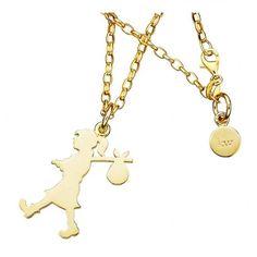 Karen Walker Runaway Girl  - Christies Diamond Jeweller Jewellery Nz, New Zealand Jewellery, Karen Walker, Gold Necklace, Jewels, Diamond, Pendant, Gold Pendant Necklace, Jewerly