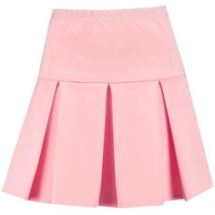 Brea Drop Hem Pleated Mini Skirt (€11) ❤ liked on Polyvore featuring skirts, mini skirts, bottoms, short pink skirt, short mini skirts, pleated mini skirt, short pleated skirt and pink mini skirt