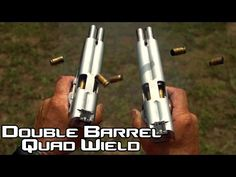 Double Barreled 1911 pistol quad wield rapid fire! 20 rounds in 1.5 seconds in SlowMo| AF2011 (4K) - YouTube