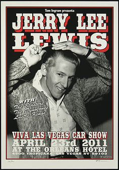 VLV #14 Car Show Poster Jerry Lee Lewis