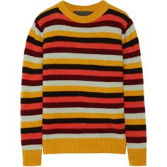 The Elder Statesman Picras striped cashmere sweater (8 485 SEK) ❤ liked on Polyvore featuring tops, sweaters, shirts, red striped sweater, striped shirt, vintage cashmere sweater, vintage sweaters and vintage shirts