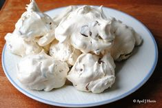 The crispy light golden outer shell of Chocolate Chip and Pecan Meringues gives way to a soft, slightly chewy centre full of pecans and chocolate chips