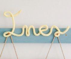 nitin.es, nombre tejidos tricotin Deco, Bracelets, Jewelry, Tejidos, Names, Dots, Spool Knitting, Jewels, Deko