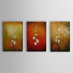 käsin maalattu öljymaalaus kasvitieteellinen oksat kukkien venytetty runko sarja 3 1307-fl0162 – EUR € 85.95