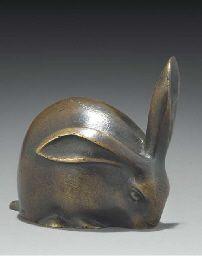Edouard Marcel Sandoz  Bronze Figure