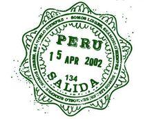 passport stamp Peru