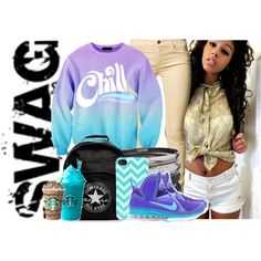 Dat Blue And Purple Swag......Like please.....YOLO...No Worries, created by shannifashion-143 on Polyvore