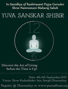 Yuva Sanskar Shibir on 4-6 September