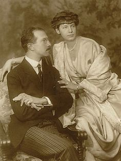 Prince Adalbert of Bavaria with Countess Auguste von Seefried auf Buttenheim