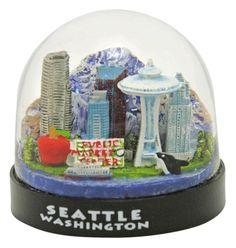 Seattle Washington snowdome / snowglobe