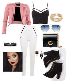 """""""Going out"""" by marielrodriguez on Polyvore featuring FRACOMINA, Charlotte Russe, Gucci, Christian Dior, Azalea and plus size clothing"""