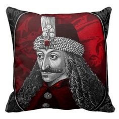 Goth:  The #Undead ~ Vlad Dracula Gothic Throw Pillows.