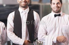 """""""Restaurant employees receiving guests"""" Stockfotos und lizenzfreie Bilder auf Fotolia.com - Bild 89580783 Restaurant, Fashion, Royalty Free Images, Moda, La Mode, Diner Restaurant, Restaurants, Fasion, Fashion Models"""