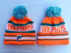 3465bd572 Miami Dolphins Winter Outdoor Sports Warm Knit Beanie Hat Pom Pom Girl  Beanie