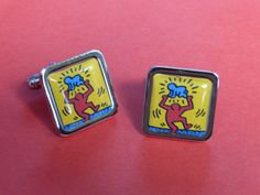 Keith Haring Parent and Child Cufflinks by mixedupdolly on Etsy